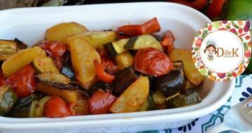 Fırında Pişmiş Sebzeler