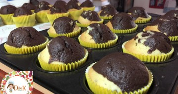İki Renkli Kek Tarifi (Muffin Kağıdında Kek)